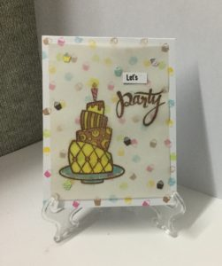 Birthday cards with Mudra stamps