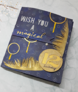 Harry potter themed card crafting nirvana a birthday card for my daughter a die hard harry potter fan her one request for her birthday was something harry potterish so made a twist cube popup bookmarktalkfo Images